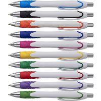 """""""ריינבו"""" עט פלסטיק כדורי לבן"""