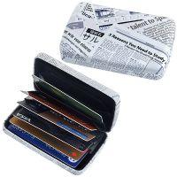 Newspaper – קופסת כרטיסי אשראי מעוצבת עם חוצצים