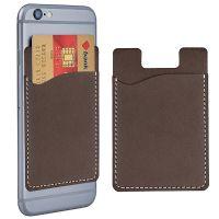 פאוץ' נצמד לטלפון סלולרי לכרטיסי אשראי דמוי עור