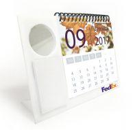 לוח שנה + מראה עיגול + ממו לבן