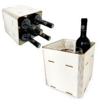 מארז בקבוק יין וכוסות