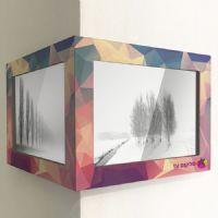 מסגרת עץ פינתית לתמונות