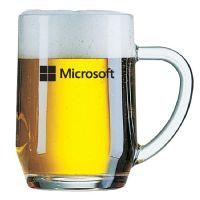 """סרמוני – כוס בירה חלקהעם ידית 560 מ""""ל"""
