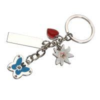גרופ – מחזיק מפתחות תליונים בצורת לב, פרח, פרפר